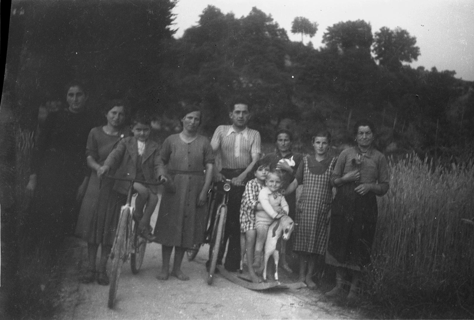Foto di famiglia con bambini