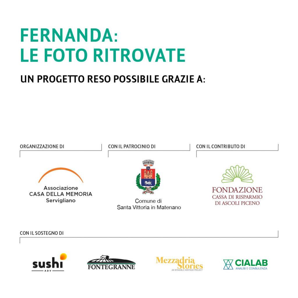 loghi Fondazione Carisap, Sushi Adv, Azienda Agricola Fontegranne, Mezzadria Stories, Cialab